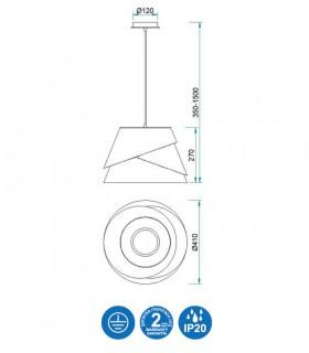 Características Colgante de techo ALBORÁN Blanco 41cm 5861 Mantra