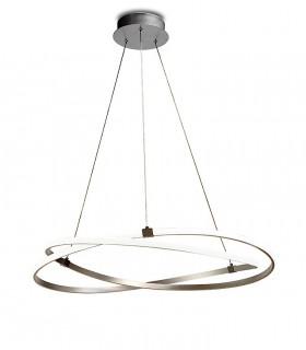 Lámpara de techo INFINITY Led Plata 60W 3000K Mantra
