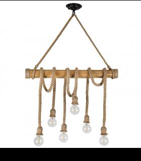 Lámpara soga 6 luces