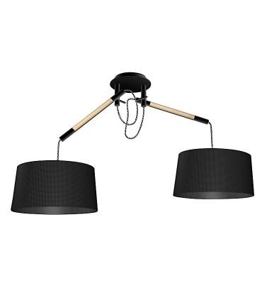 Lámpara de Techo Negra NÓRDICA 2 Brazos 4931 Mantra