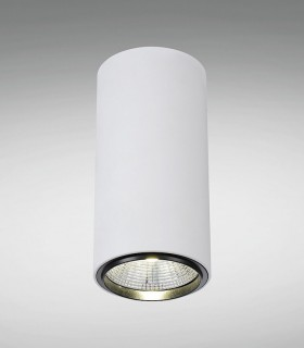 Foco de superficie CIL FIJO BLANCO LED 10W Ø90mm