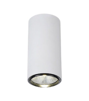 Foco de superficie CIL FIJO BLANCO LED 10W Ø90mm YLD
