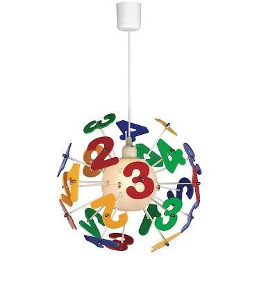 NUMBERS E27 Lámpara de techo infantil - Kelektron