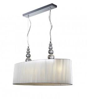 Colgante doble MERCURY 4 luces transparente - Schuller