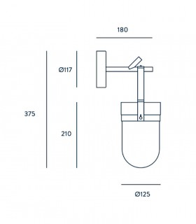 Dimensiones Aplique Almon negro A1264 - Aromas