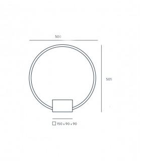 Dimensiones Tivoli 50cm S1244 - Aromas