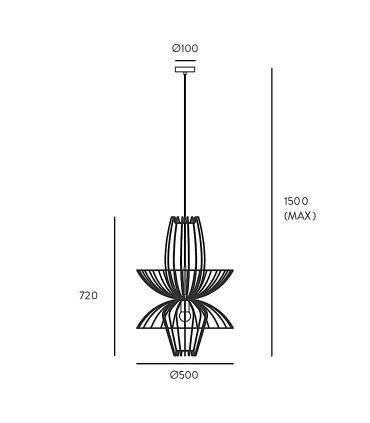 Dimensiones ELLEN C1048 - Aromas
