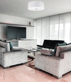 Plafón de techo WOODY PL E-27 - IDEAL LUX color blanco