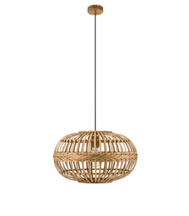 Lámpara Colgante de Bambú Natural AMSFIELD Ø38cm