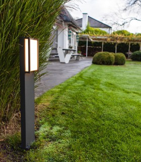 Baliza exterior QUBO led 18W gris oscuro 75cm