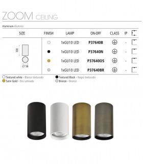 Características del foco de superficie ZOOM GU10 Ø56mm - ACB