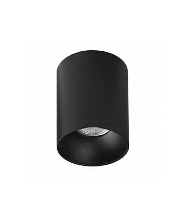 Foco superficie SOUL GU10 negro Ø80mm - ACB