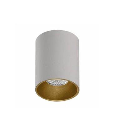 Foco superficie SOUL GU10 blanco-oro Ø80mm - ACB
