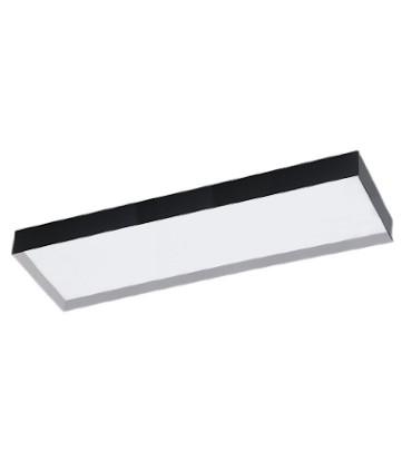 Plafón de techo rectangular 40W negro Faro LED - ACB