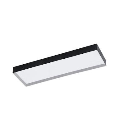 Plafón de techo rectangular 36W negro Faro LED - ACB