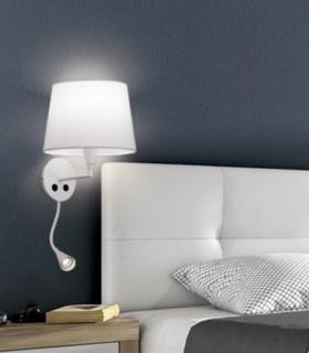 Aplique LISA + lector LED c/pantalla blanco E27 - ACB