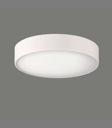 Plafón DINS 2 bombillas E27 en blanco  Ø26cm - ACB