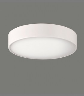 Plafón DINS 2 bombillas E27 en blanco  Ø32cm - ACB