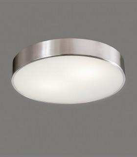 Plafón DINS 2 bombillas E27 en níquel Ø32cm - ACB
