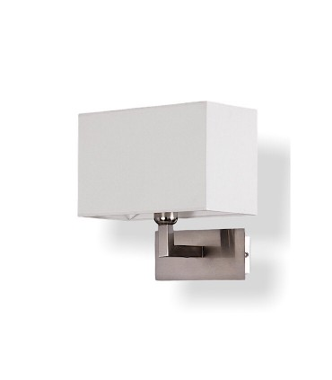 Aplique CARLO níquel con pantalla blanca E27 - ACB