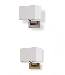 Aplique CARLO níquel o cuero con pantalla blanca E27 - ACB