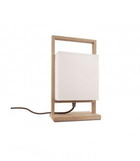 Lámpara de sobremesa madera rectangular pantalla ND31