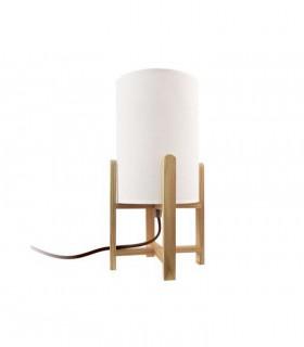 Lámpara de sobremesa madera pantalla ND33