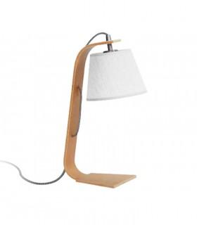 Lámpara de sobremesa madera con pantalla ND35