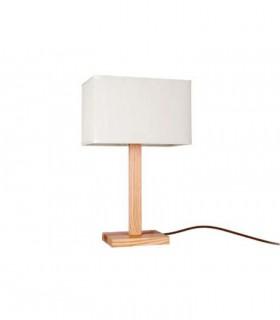 Lámpara de sobremesa madera con pantalla ND36