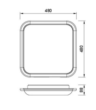 Plafón de techo FASE LED 24w 4000k MANTRA, 6249, dimensiones