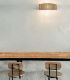 Aplique de pared madera natural 50cm E27 YUCA