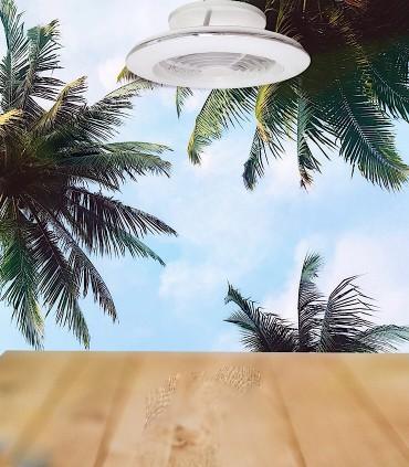 Siente el aire del ventilador Alisio MINI  blanco 7493 - Mantra