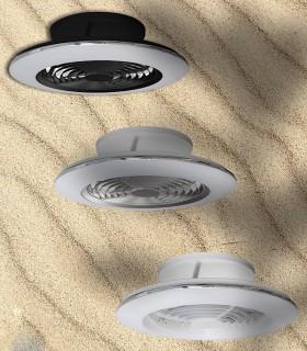 Plafón ventilador de techo Alisio MINI Mantra en 3 acabados diferentes. Escoge el tuyo