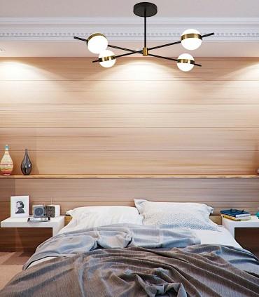 Decorando dormitorio con Plafón led CUBA 32W 7162 Mantra