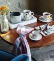 Juego 6 tazas de té con plato Iris Audrey