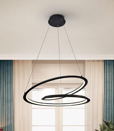 Lámpara LOOPING negro 60cm de Schuller