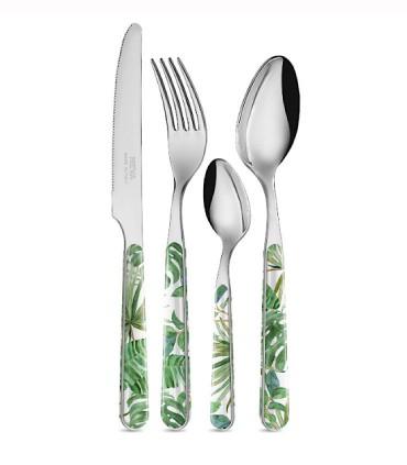 Cubertería 24 piezas Jungle Leaf