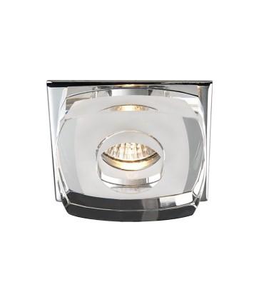 Empotrable Cristal Avalio GU10 cuadrado blanco - Cristalrecord