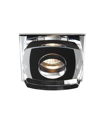 Empotrable Cristal Avalio GU10 cuadrado negro - Cristalrecord