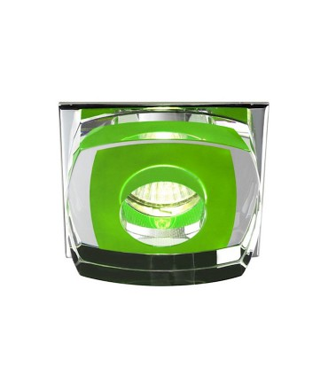Empotrable Cristal Avalio GU10 cuadrado verde - Cristalrecord