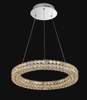 Lámpara colgante CRYSTAL LED 24w 50cm cromo Mantra, 4585