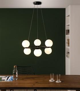 Lámpara KIN negro LED circular 30W Ø65cm - ACB