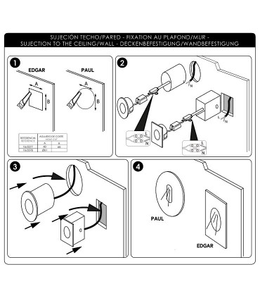 Instrucciones de instalación Foco empotrable de pared PAUL 3W - ACB