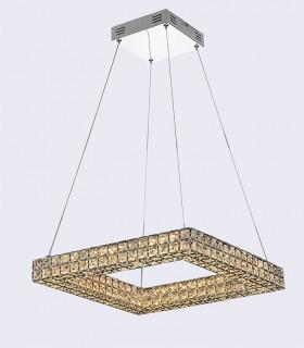 Lámpara colgante CRYSTAL LED 32w cuadrada Mantra, 4587