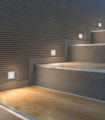 Imagen de ambiente Foco empotrable de pared PRADO 3W - ACB