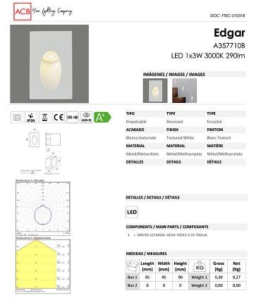 Ficha técnica focos Edgar - ACB