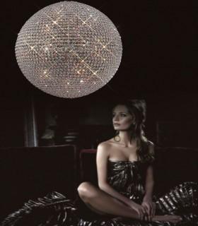 Lámpara grande CRYSTAL BALLS 1m cromo Mantra, 4604