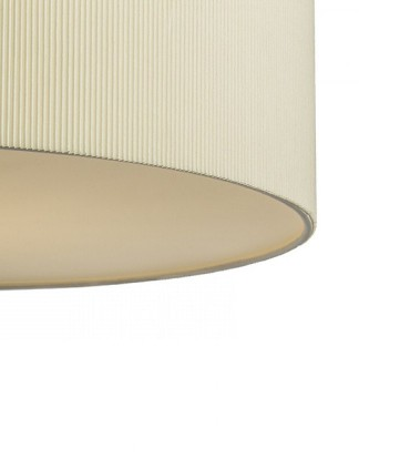Detalle pantalla lámpara Plafón de techo beige LALO  Ø60cm 3E27 Rendl