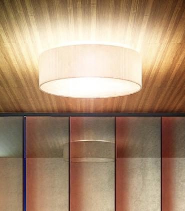 Plafón de techo con pantalla beige LALO  Ø60cm 3E27 Rendl