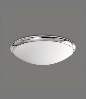 Plafón ESUS 2 bombillas E27 cromo Ø26cm ACB